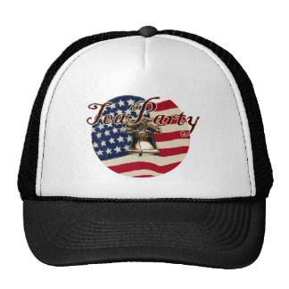 Teaparty Flag and Liberty Bell Trucker Hats
