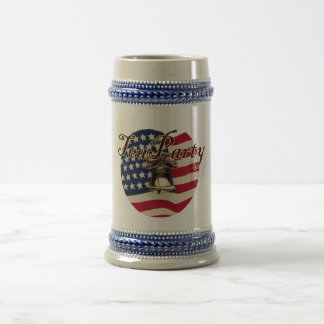 Teaparty Flag and Liberty Bell Coffee Mugs