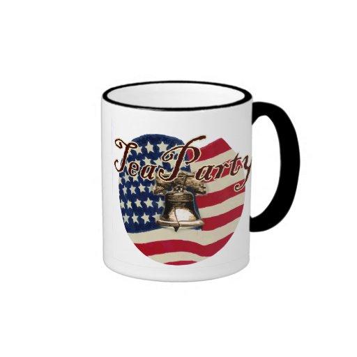 Teaparty Flag and Liberty Bell Coffee Mug