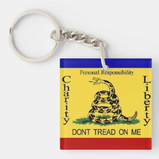 Teaparty Gadsden Flag Key Chain
