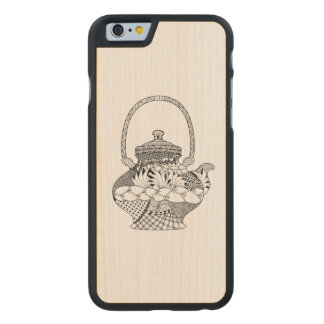 Teapot Doodle Carved® Maple iPhone 6 Case