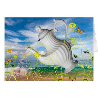 """Teapot Dream"" ~ Customizable Greeting Card"