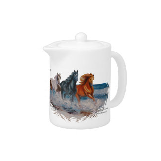 Teapot, Horses in the Surf, Run Free!