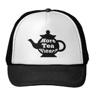 Teapot - More tea Vicar? - Black and White Cap