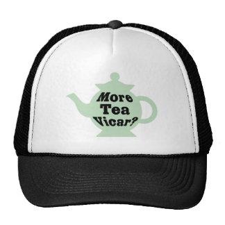 Teapot - More tea Vicar - Black on Light Green Mesh Hats