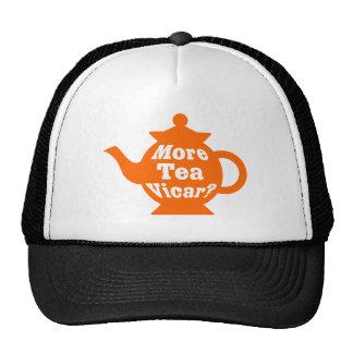 Teapot - More tea Vicar? - Orange and White Cap
