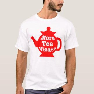 Teapot - More tea Vicar? - Red and White T-Shirt