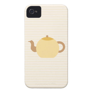 Teapot Picture in Neutral Colors. iPhone 4 Covers
