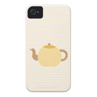 Teapot Picture in Neutral Colors iPhone 4 Case