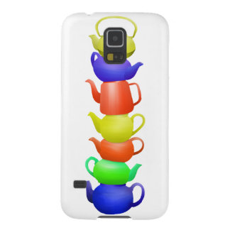 Teapot tower painted pattern galaxy s5 covers