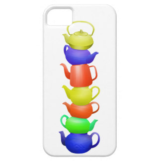 Teapot tower painted pattern iPhone 5 cases