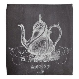 teapot vintage Chalkboard bridal shower tea party Head Kerchiefs