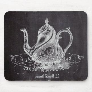 teapot vintage Chalkboard bridal shower tea party Mousepad