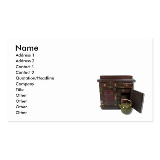 TeaPotChest081210, Name, Address 1, Address 2, ... Pack Of Standard Business Cards