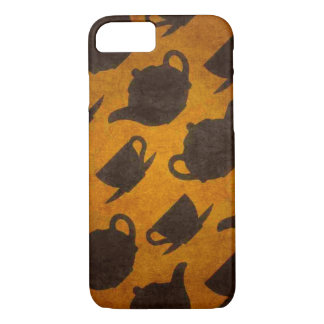 Teapots Cups Design Symbol Texture Pattern iPhone 7 Case
