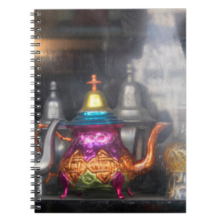 Teapots For Sale At Market Spiral Notebook