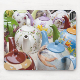 Teapots on sale in Leipzig, Germany Mouse Pads