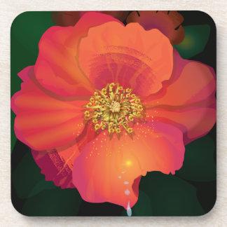 Tear Drop Flower Drink Coasters