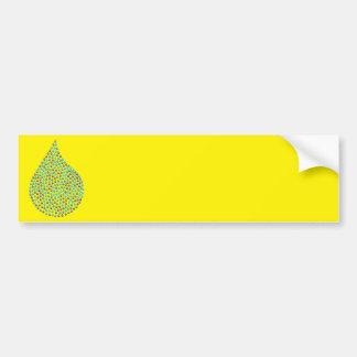 Tear Drop Iridescent Bumper Sticker