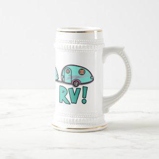 Tear Drop RV Trailer Beer Stein Mug