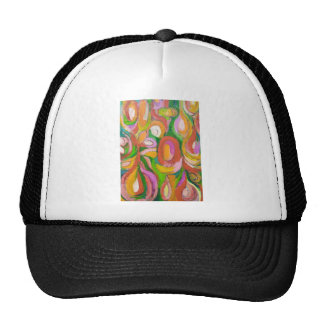 Teardrop Abstract Flowers (abstract expressionism) Cap