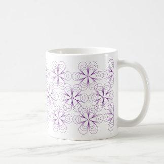 Teardrop Blossoms Mug in Purple Stroke