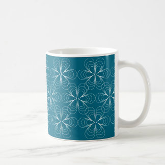 Teardrop Blossoms Mug in Teal