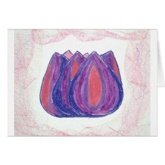 teardrop flower cards