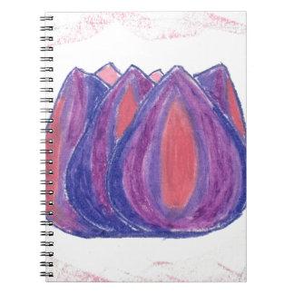 teardrop flower spiral note books