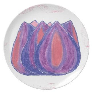 teardrop flower plate