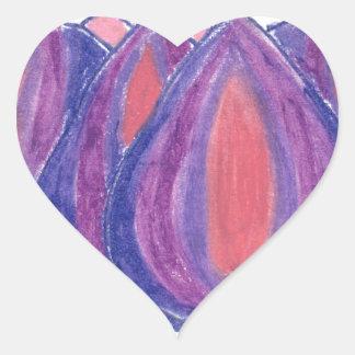 teardrop flower heart stickers