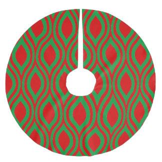 Teardrop Geometric by Cheryl Daniels Brushed Polyester Tree Skirt