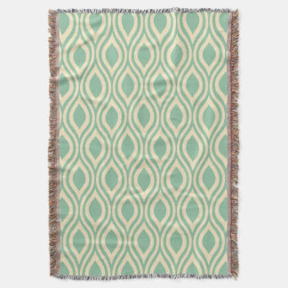 Teardrop Geometric CHOOSE YOUR BACKGROUND COLOR Throw Blanket
