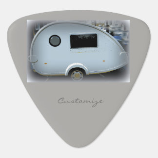 Teardrop gypsy caravan happy glamping guitar pick