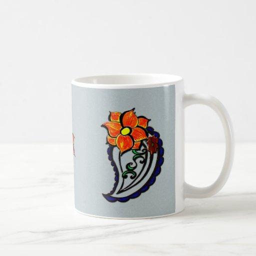 Teardrop Paisley Mug