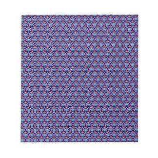 teardrop pattern memo notepad