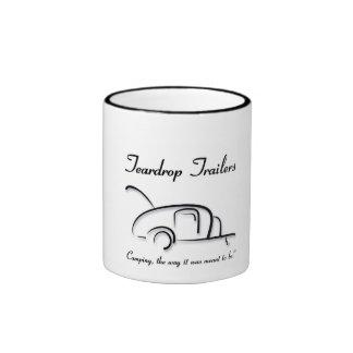Teardrop Trailers Black Coffee Mugs