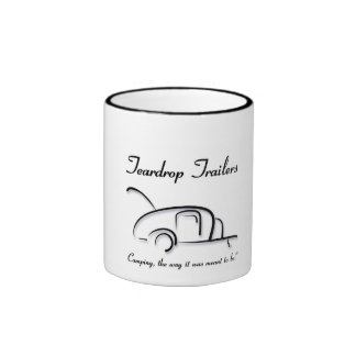 Teardrop Trailers Black Ringer Mug