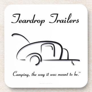 Teardrop Trailers Black Version Drink Coaster
