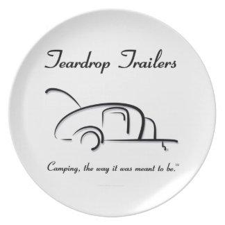Teardrop Trailers Black Version Party Plate