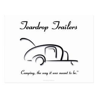 Teardrop Trailers Black Version Post Card
