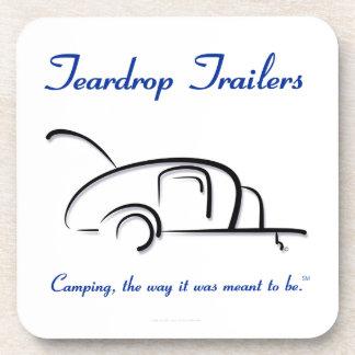 Teardrop Trailers Blue Version Coaster