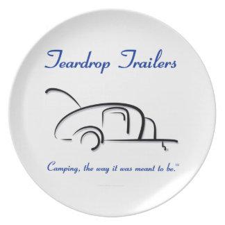 Teardrop Trailers Blue Version Dinner Plates