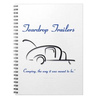 Teardrop Trailers Blue Version Spiral Notebooks