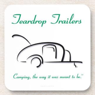 Teardrop Trailers Green Version Drink Coaster