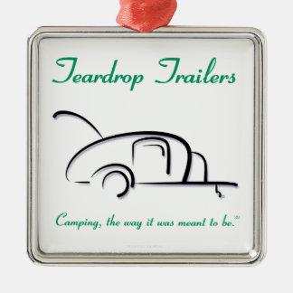 Teardrop Trailers Green Version Christmas Tree Ornament