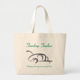 Teardrop Trailers Green Version Jumbo Tote Bag