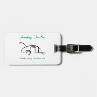 Teardrop Trailers Green Version Travel Bag Tag