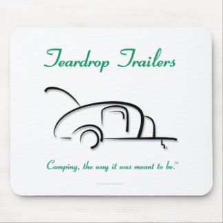 Teardrop Trailers Green Version Mouse Pad
