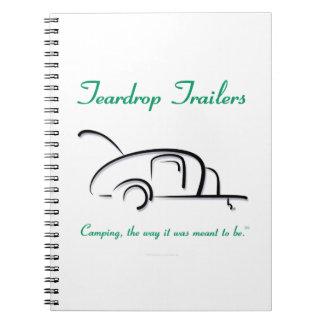 Teardrop Trailers Green Version Note Books